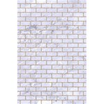 BRICK1 WHITE MARBLE & SAND (R) 5.5  x 8.5  Notebooks Front Cover