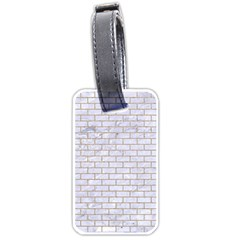 Brick1 White Marble & Sand (r) Luggage Tags (one Side)