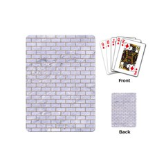 Brick1 White Marble & Sand (r) Playing Cards (mini)