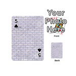 BRICK1 WHITE MARBLE & SAND (R) Playing Cards 54 (Mini)  Front - Spade5