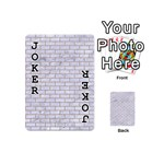 BRICK1 WHITE MARBLE & SAND (R) Playing Cards 54 (Mini)  Front - Joker1