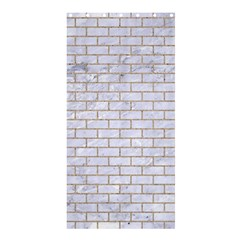 Brick1 White Marble & Sand (r) Shower Curtain 36  X 72  (stall)
