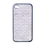 BRICK1 WHITE MARBLE & SAND (R) Apple iPhone 4 Case (Black) Front