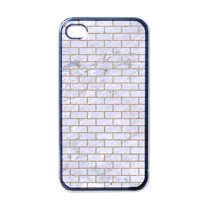 BRICK1 WHITE MARBLE & SAND (R) Apple iPhone 4 Case (Black)