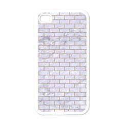 Brick1 White Marble & Sand (r) Apple Iphone 4 Case (white)