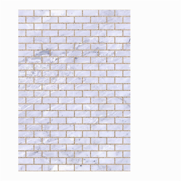 BRICK1 WHITE MARBLE & SAND (R) Small Garden Flag (Two Sides)