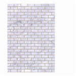 BRICK1 WHITE MARBLE & SAND (R) Small Garden Flag (Two Sides) Back
