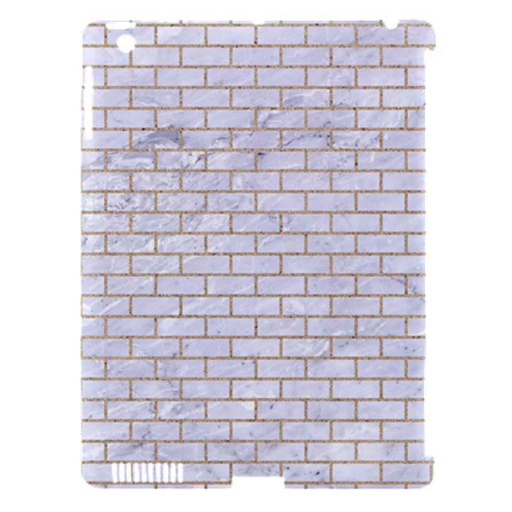 BRICK1 WHITE MARBLE & SAND (R) Apple iPad 3/4 Hardshell Case (Compatible with Smart Cover)