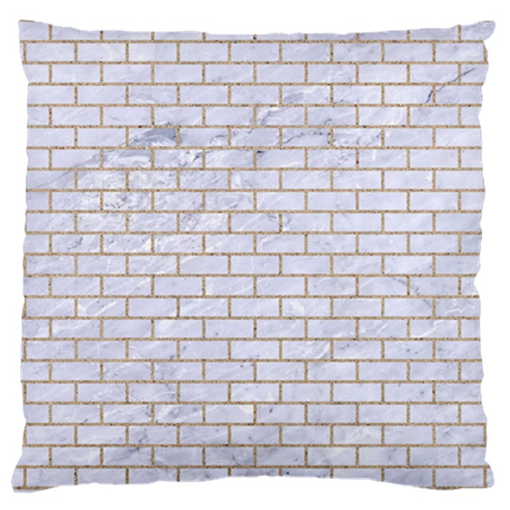 BRICK1 WHITE MARBLE & SAND (R) Large Cushion Case (One Side)
