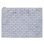 BRICK1 WHITE MARBLE & SAND (R) Cosmetic Bag (XXL)  Front