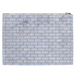 BRICK1 WHITE MARBLE & SAND (R) Cosmetic Bag (XXL)  Back
