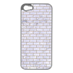 Brick1 White Marble & Sand (r) Apple Iphone 5 Case (silver)