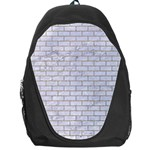BRICK1 WHITE MARBLE & SAND (R) Backpack Bag Front