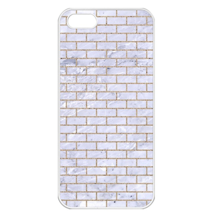 BRICK1 WHITE MARBLE & SAND (R) Apple iPhone 5 Seamless Case (White)