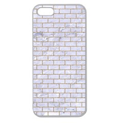 Brick1 White Marble & Sand (r) Apple Seamless Iphone 5 Case (clear)