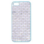 BRICK1 WHITE MARBLE & SAND (R) Apple Seamless iPhone 5 Case (Color) Front