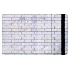 Brick1 White Marble & Sand (r) Apple Ipad 2 Flip Case
