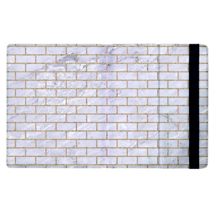 BRICK1 WHITE MARBLE & SAND (R) Apple iPad 3/4 Flip Case