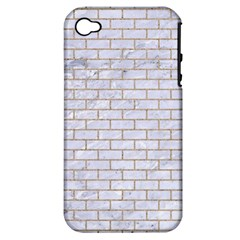Brick1 White Marble & Sand (r) Apple Iphone 4/4s Hardshell Case (pc+silicone)