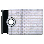 BRICK1 WHITE MARBLE & SAND (R) Apple iPad 2 Flip 360 Case Front