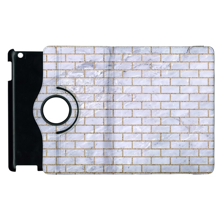 BRICK1 WHITE MARBLE & SAND (R) Apple iPad 2 Flip 360 Case