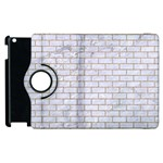 BRICK1 WHITE MARBLE & SAND (R) Apple iPad 3/4 Flip 360 Case Front