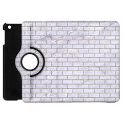 Brick1 White Marble & Sand (r) Apple Ipad Mini Flip 360 Case
