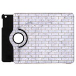 BRICK1 WHITE MARBLE & SAND (R) Apple iPad Mini Flip 360 Case Front