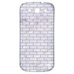 BRICK1 WHITE MARBLE & SAND (R) Samsung Galaxy S3 S III Classic Hardshell Back Case Front
