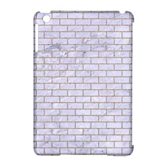 Brick1 White Marble & Sand (r) Apple Ipad Mini Hardshell Case (compatible With Smart Cover)