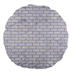 BRICK1 WHITE MARBLE & SAND (R) Large 18  Premium Round Cushions Front