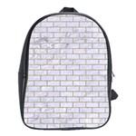 BRICK1 WHITE MARBLE & SAND (R) School Bag (XL) Front