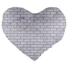 Brick1 White Marble & Sand (r) Large 19  Premium Heart Shape Cushions