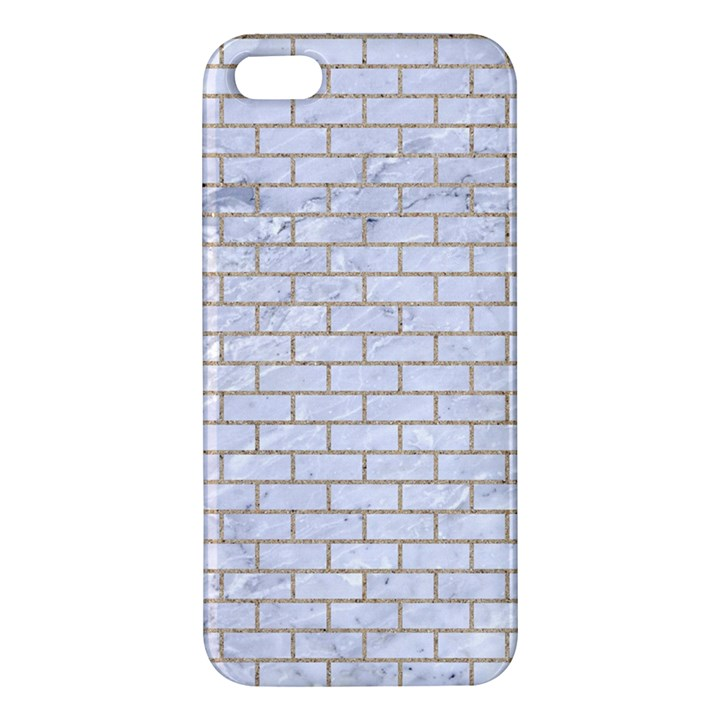 BRICK1 WHITE MARBLE & SAND (R) Apple iPhone 5 Premium Hardshell Case
