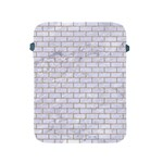 BRICK1 WHITE MARBLE & SAND (R) Apple iPad 2/3/4 Protective Soft Cases Front