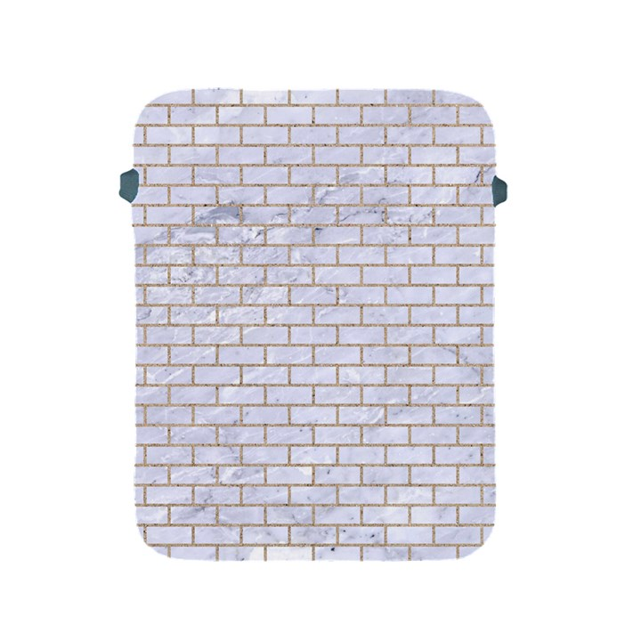 BRICK1 WHITE MARBLE & SAND (R) Apple iPad 2/3/4 Protective Soft Cases