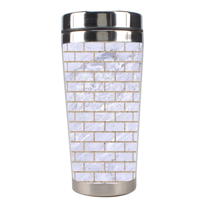 BRICK1 WHITE MARBLE & SAND (R) Stainless Steel Travel Tumblers