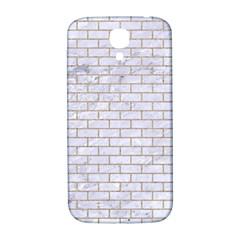 Brick1 White Marble & Sand (r) Samsung Galaxy S4 I9500/i9505  Hardshell Back Case