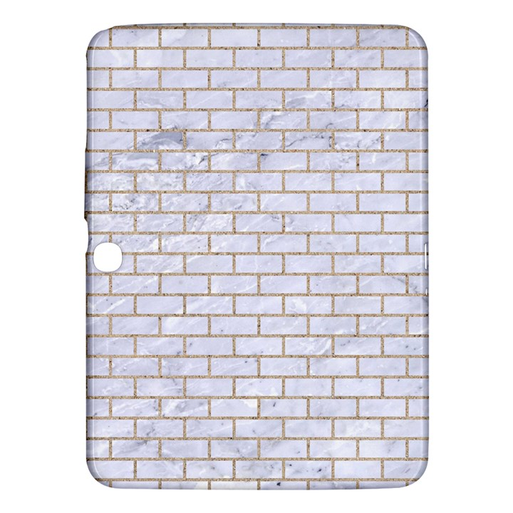 BRICK1 WHITE MARBLE & SAND (R) Samsung Galaxy Tab 3 (10.1 ) P5200 Hardshell Case