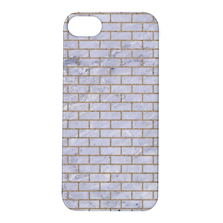 BRICK1 WHITE MARBLE & SAND (R) Apple iPhone 5S/ SE Hardshell Case