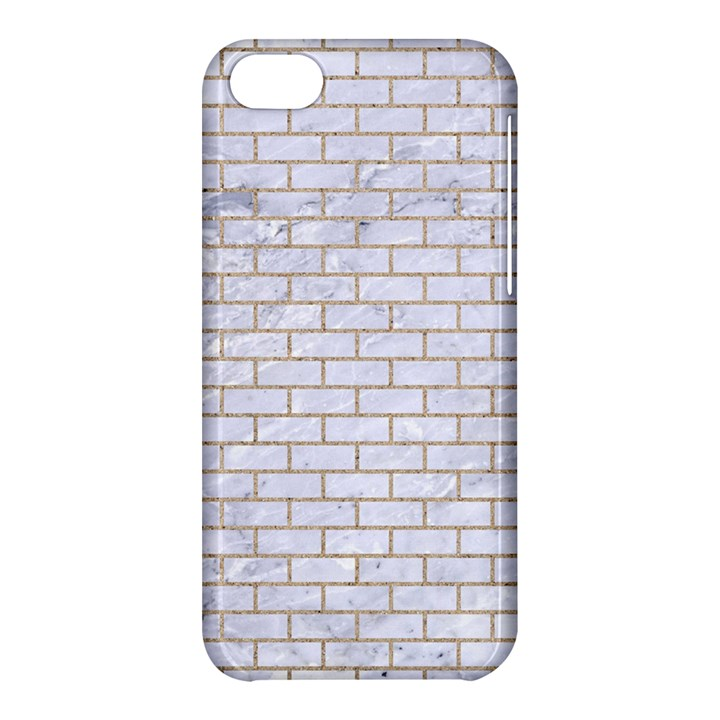 BRICK1 WHITE MARBLE & SAND (R) Apple iPhone 5C Hardshell Case