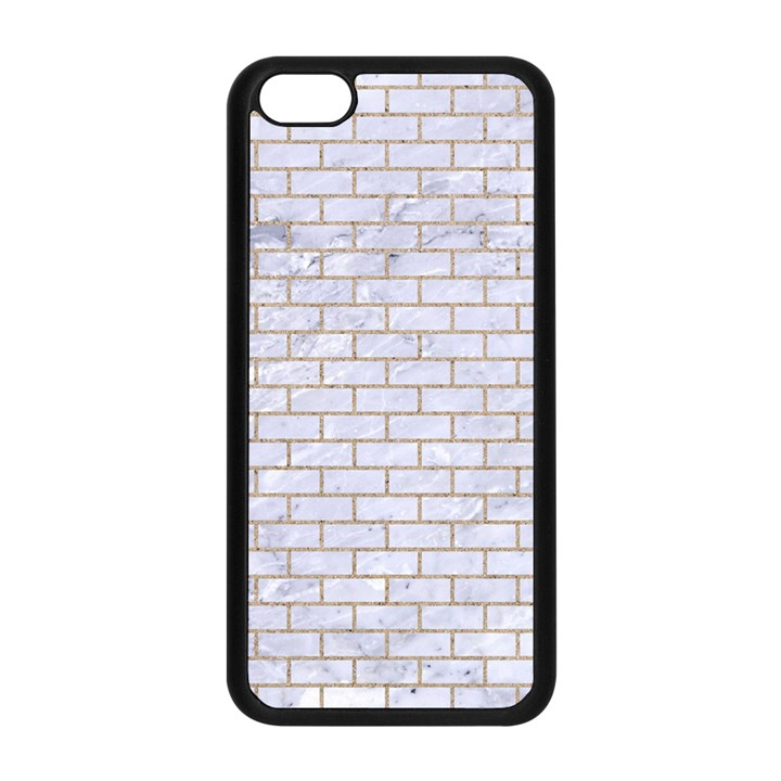 BRICK1 WHITE MARBLE & SAND (R) Apple iPhone 5C Seamless Case (Black)