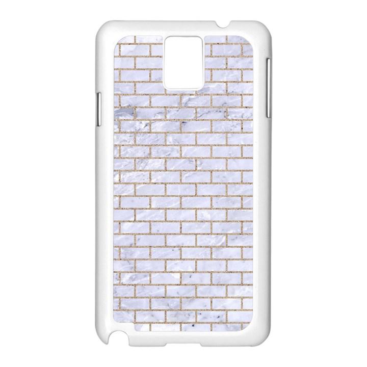 BRICK1 WHITE MARBLE & SAND (R) Samsung Galaxy Note 3 N9005 Case (White)
