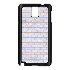 Brick1 White Marble & Sand (r) Samsung Galaxy Note 3 N9005 Case (black)