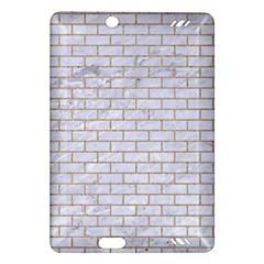 Brick1 White Marble & Sand (r) Amazon Kindle Fire Hd (2013) Hardshell Case
