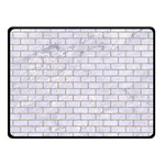 BRICK1 WHITE MARBLE & SAND (R) Double Sided Fleece Blanket (Small)  45 x34 Blanket Back
