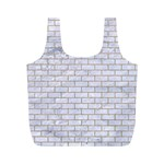 BRICK1 WHITE MARBLE & SAND (R) Full Print Recycle Bags (M)  Front