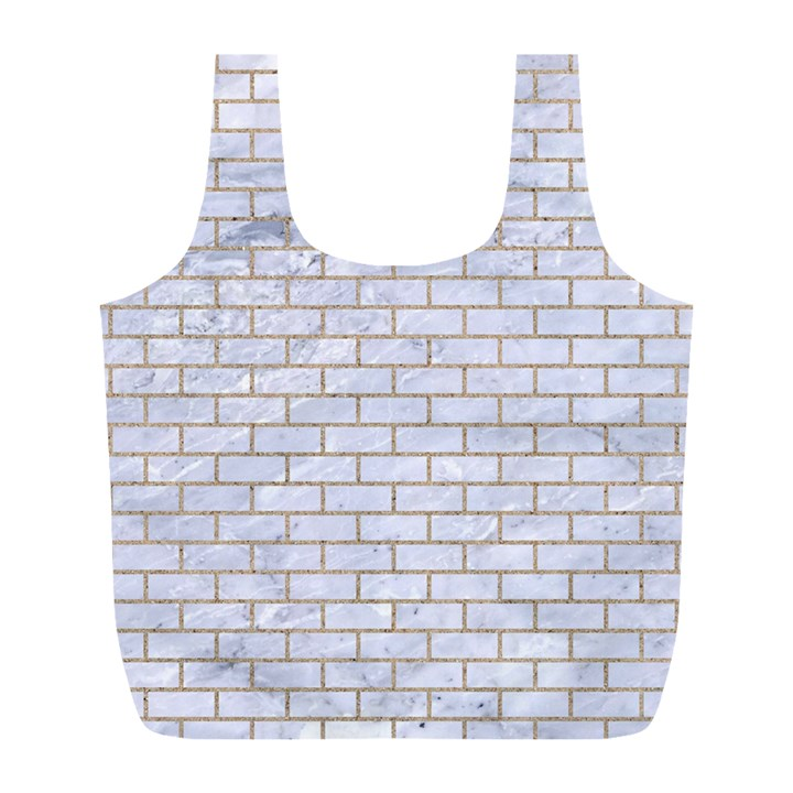 BRICK1 WHITE MARBLE & SAND (R) Full Print Recycle Bags (L)
