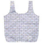 BRICK1 WHITE MARBLE & SAND (R) Full Print Recycle Bags (L)  Back