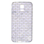 BRICK1 WHITE MARBLE & SAND (R) Samsung Galaxy S5 Back Case (White) Front